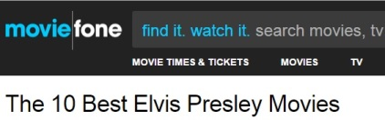 MovieFone Elvis Movie Rankings