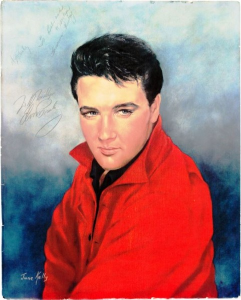 Elvis Signed Color Portrait