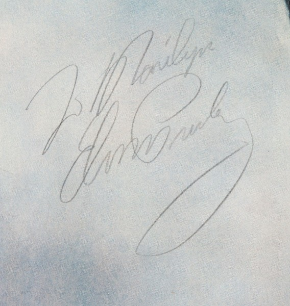 Elvis Signed Color Portrait - Close up
