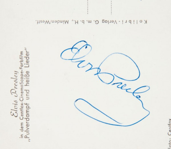 Elvis Signed Postcard - back