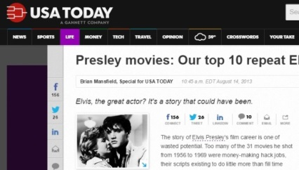 USA Today Elvis Movie Rankings