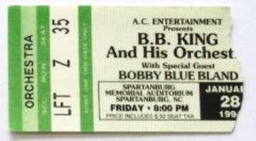 BB King Concert Ticket