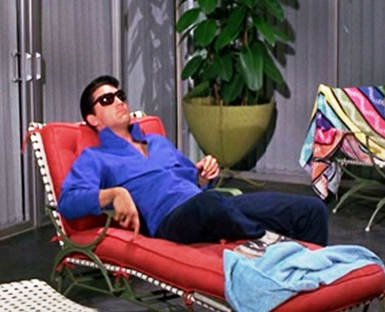 Elvis Sunbathing in Long-sleeve Short - Girl Happy