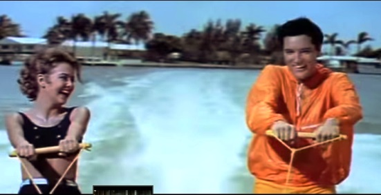Elvis Water Skying Wearing Long Sleeved Shirt - Girl Happy