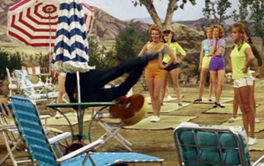 Elvis Falling Over Table