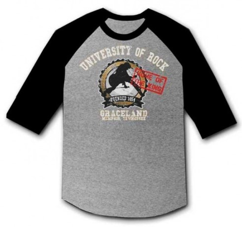 Graceland University of Rock Raglan  T-Shirt