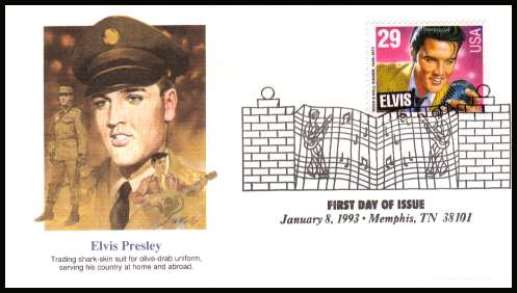 1993 Elvis Stamp First Day Cover 1