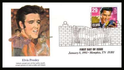 1993 Elvis Stamp First Day Cover 2