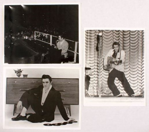 3 B&W Elvis Photos