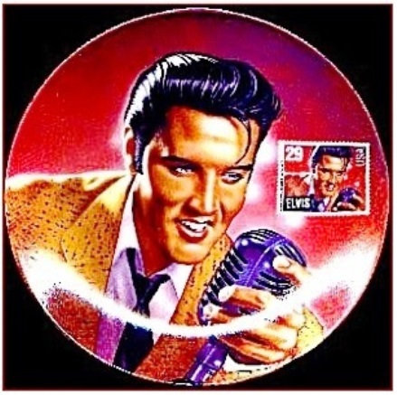 Elvis Stamp Collectible Plate