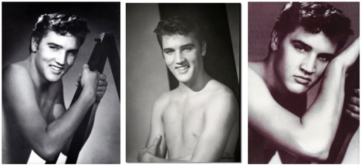Three William Speer Photos Of Bare-chested Elvis