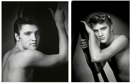 Two William Speers Photos of Bare-Chested Elvis