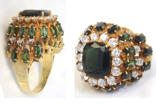 and auction a thumb the colored elizabeth ring aaronm with cleef arpels from rings ct img diamond of van am taylor set cognac