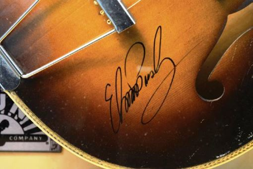 Elvis Signature on Million Dollar Quartet Guitar