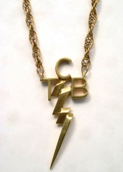 TCB Gold Necklace Gifted to Richard Davis by Elvis Presley