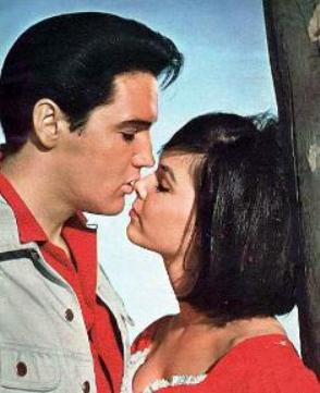 Elvis & Yvonne Craig Kissing in Kissin Cousins