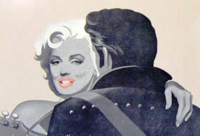 Elvis and Marilyn Back View