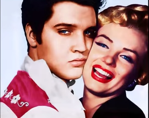 Elvis and Marilyn Color Head Shot