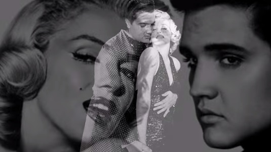 Elvis and Marilyn Double Exposure