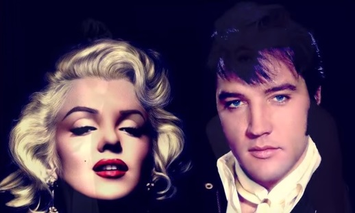 Elvis and Marilyn Double Head Shot