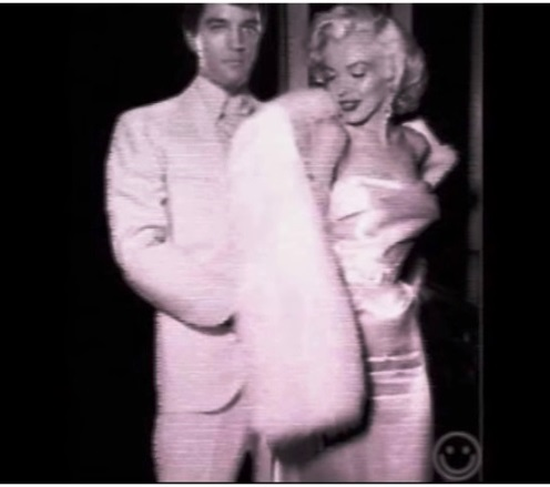 Elvis and Marilyn Fur Coat