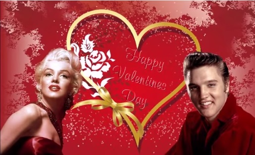 Elvis and Marilyn Happy Valentines Day