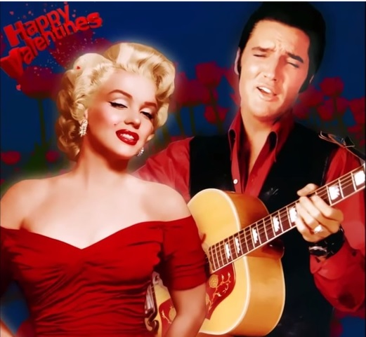 Elvis and Marilyn Happy Valentine's