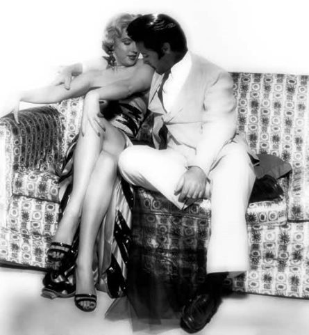 Elvis and Marilyn Kissing her Arm