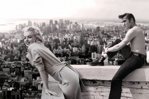 Elvis and Marilyn On Roof Top