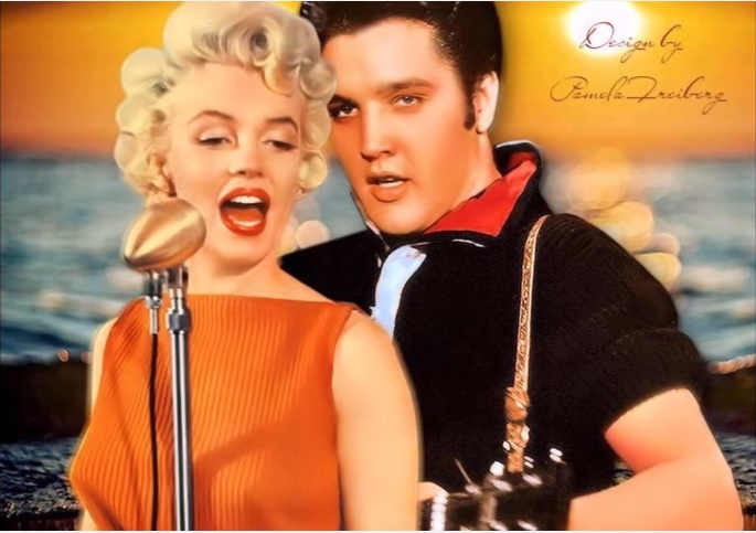 Elvis and Marilyn Singing Together