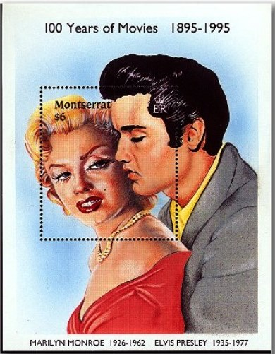 Elvis and Marilyn Stamp