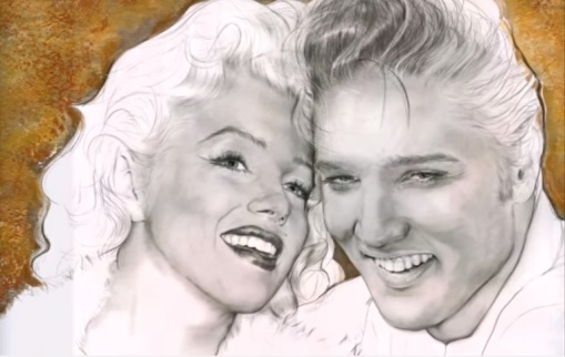 Elvis and Marilyn Washed-out Sketch