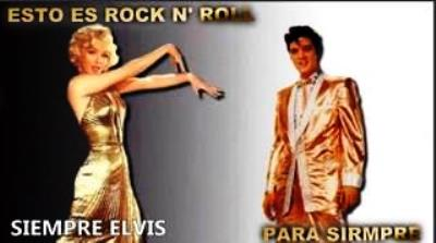 Elvis and Marilyn in Gold Outfits