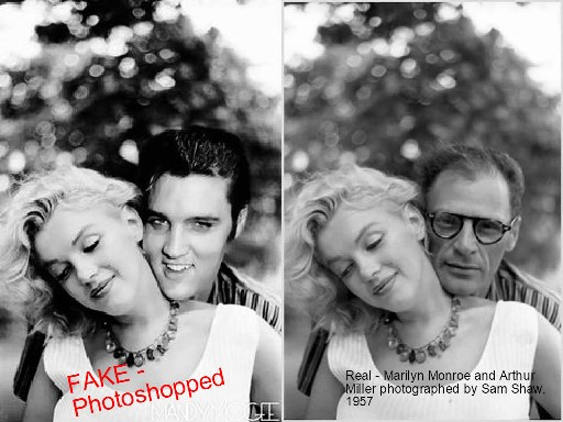 Elvis and Marilyn plus Original Photo
