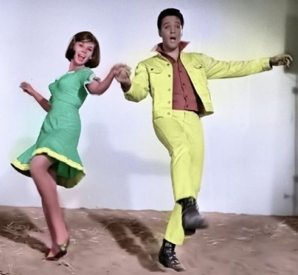 Elvis and Yvonne Craig Dancing