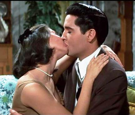 First Elvis-Yvonne Craig Kiss