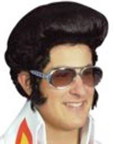 Bad Elvis Halloween Wig