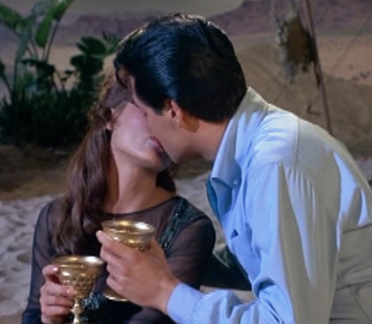 Elvis Kissing Fran Jeffries in Harum Scarum