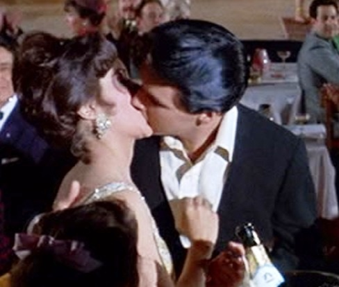 Elvis Kissing Mary Ann Mobley at End of Harum Scarum