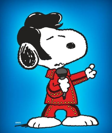 Snoopy elvis in red