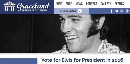 Vote for Elvis for President