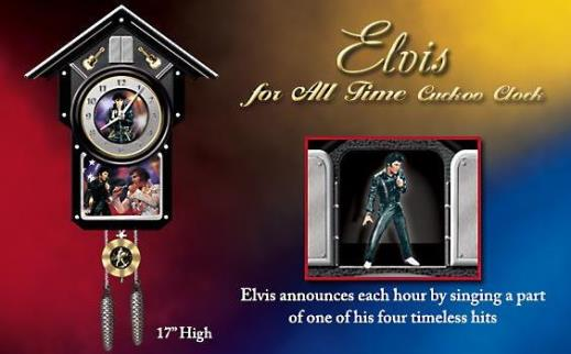 Elvis Presley Collectible Cuckoo Clock