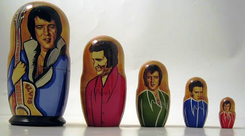 Elvis Russian Nesting Doll Set