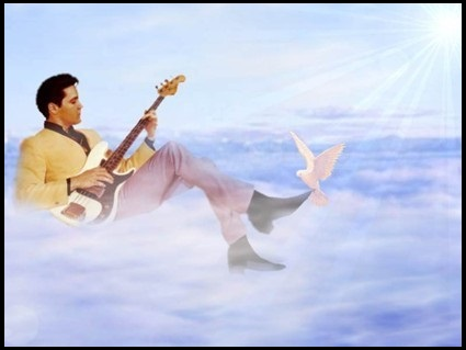 Elvis in Heavenly Clouds