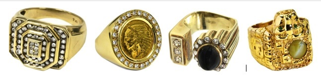 4 Elvis Rings from Auction at Graceland