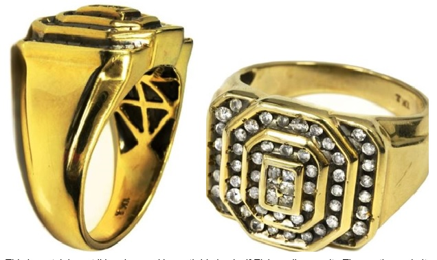 Elvis' Gold Ring with 56 Diamonds