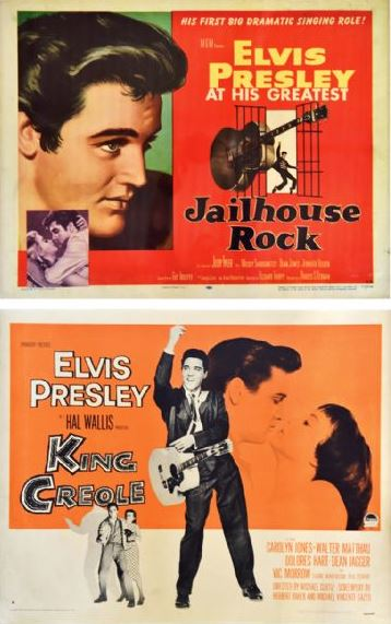 Lot 41 Two Half-Sheet Elvis Movie Posters