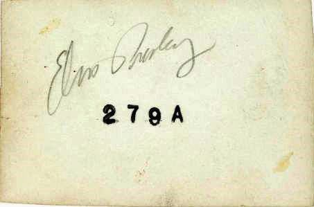Autographed Back of Early Unreleased Elvis Photo (Shreveport, 1954-5)