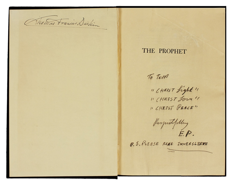 Elvis Hand Annotated and Signed The Prophet