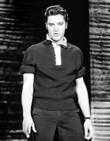 Elvis during Rehersal for Ed Sullivan Show